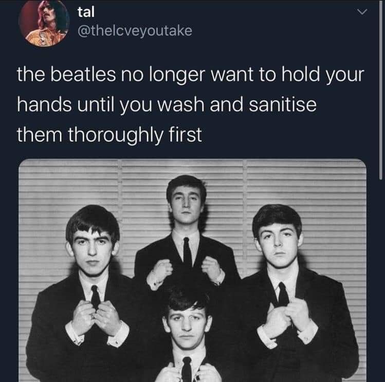 Pin By Pistols And Petals On The Beatles In 2020 Beatles Funny The Beatles Beatles Meme