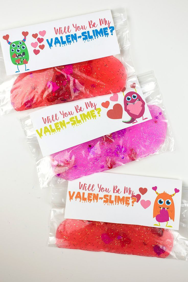Will You Be My Valen- Slime Valentines