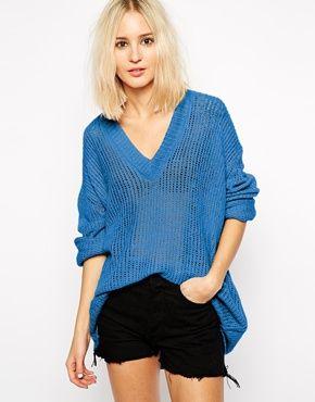 Cheap Monday Deep V Neck Knitted Jumper
