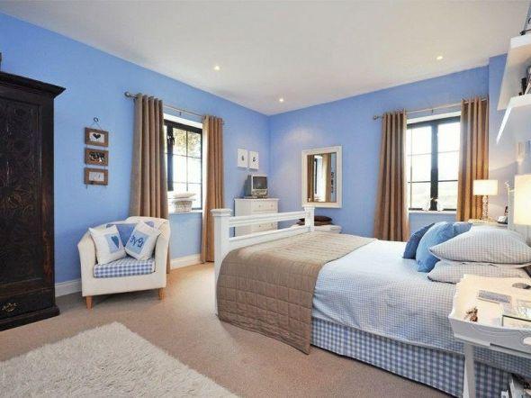 blaue wandfarbe schlafzimmer | möbelideen - Wandfarbe Im Schlafzimmer