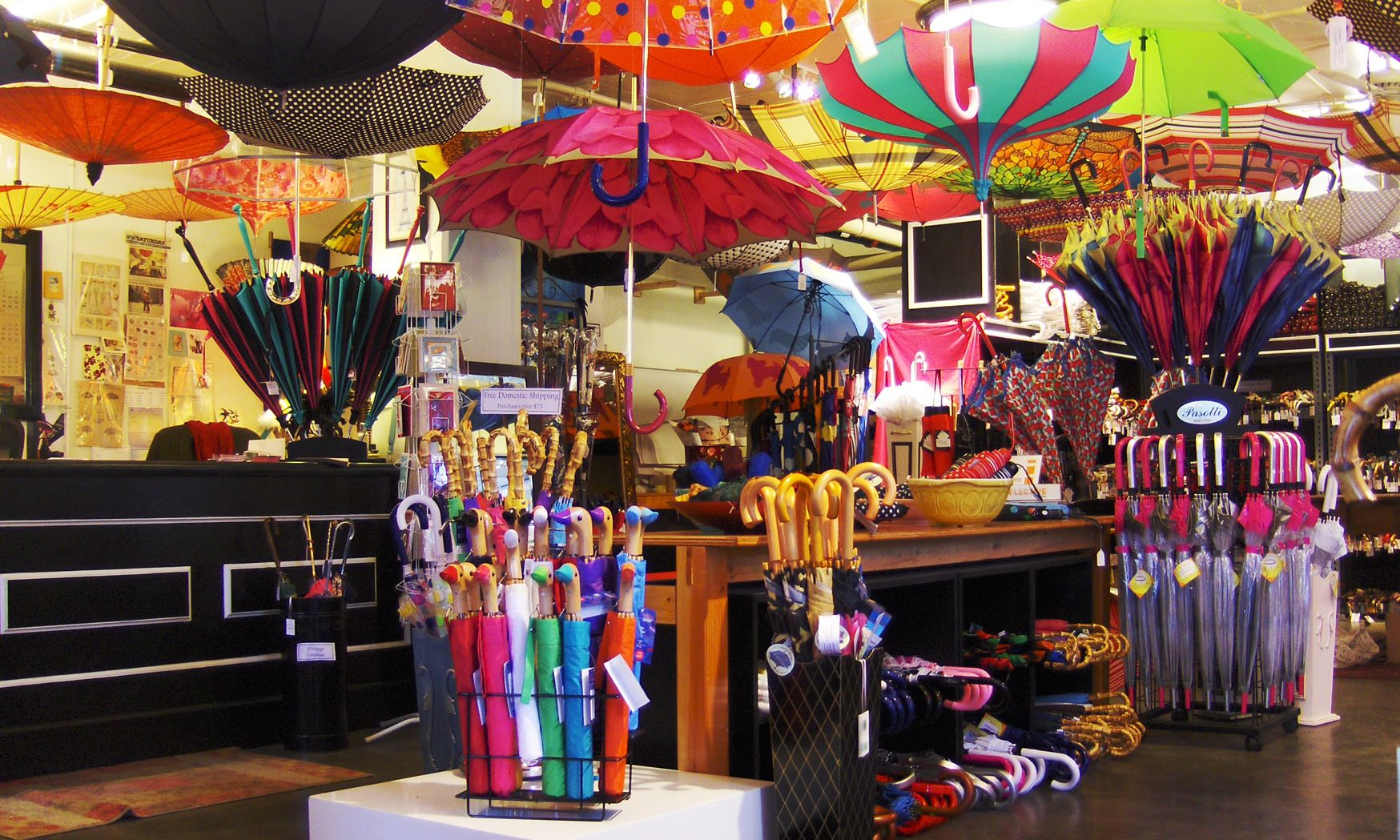 Inside Bella Umbrella Pike Place Market Seattle