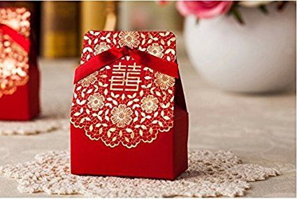 Zorpia 50 pcs shiny glitter sparkling gold flower chinese red zorpia 50 pcs shiny glitter sparkling gold flower chinese red wedding sweet box diy square stopboris Image collections