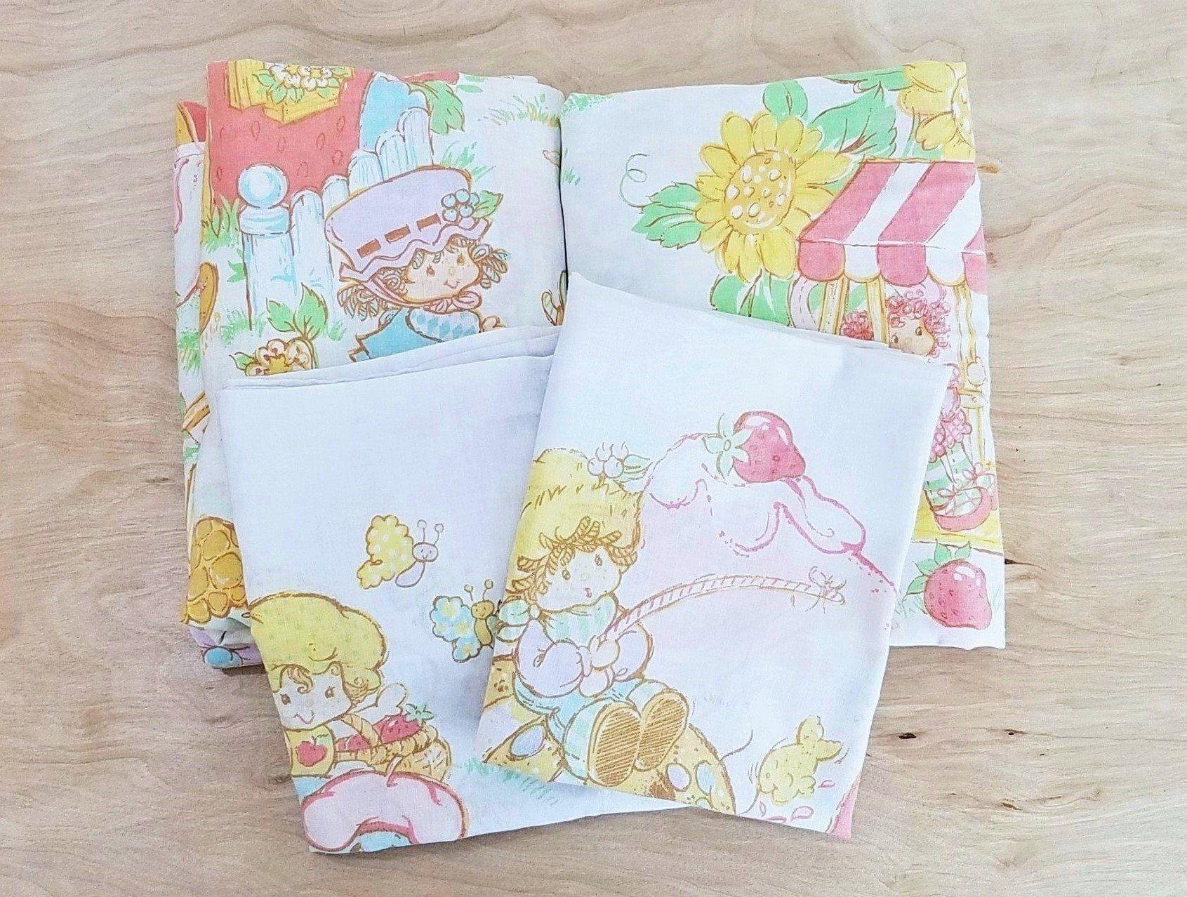 vintage strawberry shortcake sheet set full size sheets children's
