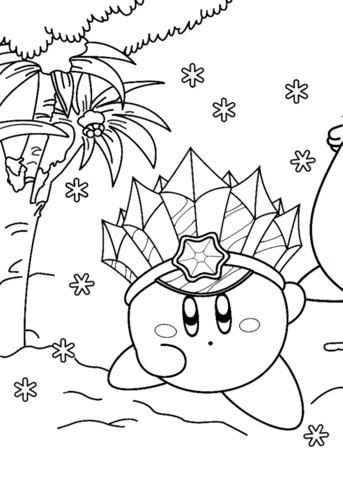 Ice Kirby Coloring Page Monster Coloring Pages Coloring Pages Free Printable Coloring Pages