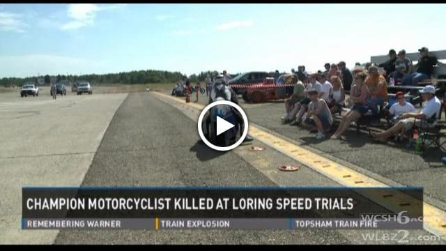Motorcycle speed world record holder killed at Loring