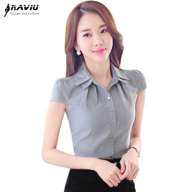 a77fb4b28 De alta calidad de las mujeres camisa oficina OL Del Verano del todo ...