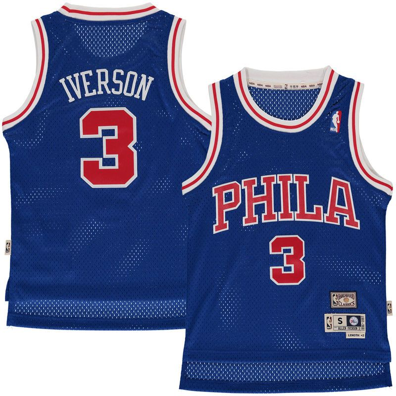 super popular dde6d 4c7d3 Allen Iverson Philadelphia 76ers Mitchell & Ness Youth ...