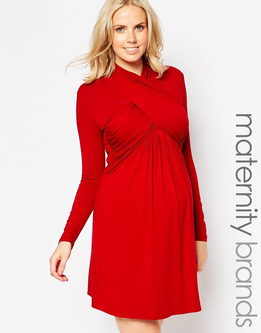 7e82e4d202e Isabella Oliver Ashwell Maternity Dress With Wrap Front
