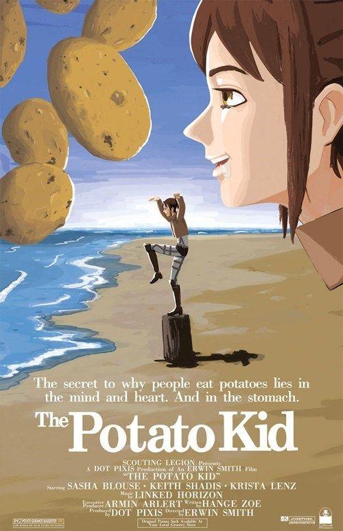 Potato Girl Meme : potato, Fullmetal, Cosplay, Attack, Titan, Meme,, Titan,, Anime