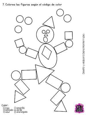 Fichas Examen Infantil Y Preescolar Dificultad Media Figuras Geometricas Para Ninos Actividades De Geometria Actividades De Figuras Geometricas