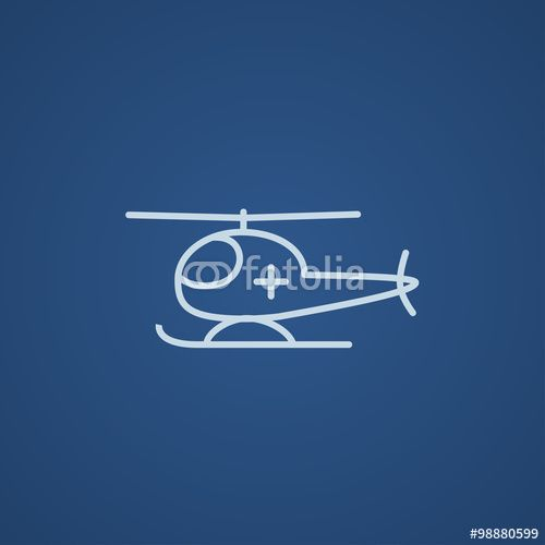 Vektor: Air ambulance line icon.