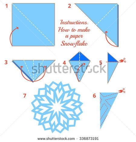 paper snowflake instructions Now, paper snowflakes are somewhat of a classic craft, so it seems like they should be really easy, right well, if you've ever tried to make them without any clear instructions, just off the top of your head, then you know that they can be just a little more complicated than that a lot of people end up with 4- or.