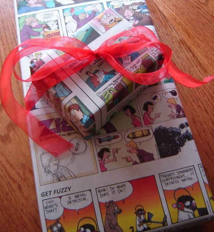 Gift Wrap Ideas: Recycled Materials#gift #ideas #materials #recycled #wrap