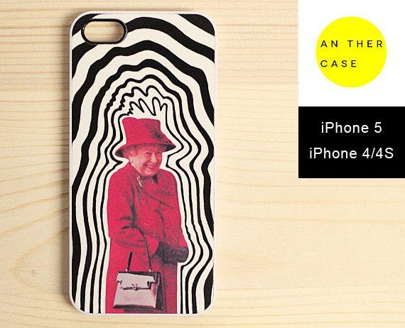 British Queen quirky illustration iphone case