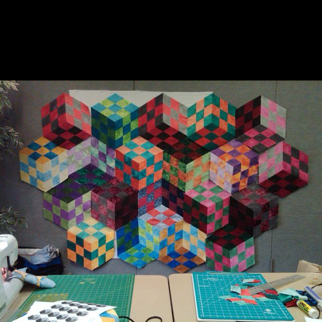 Patchwork Illusions class by Karen Combs | My quilts and