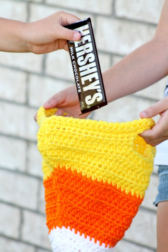 Boutique Crochet Candy Corn Trick or Treat by crochetbycharlene
