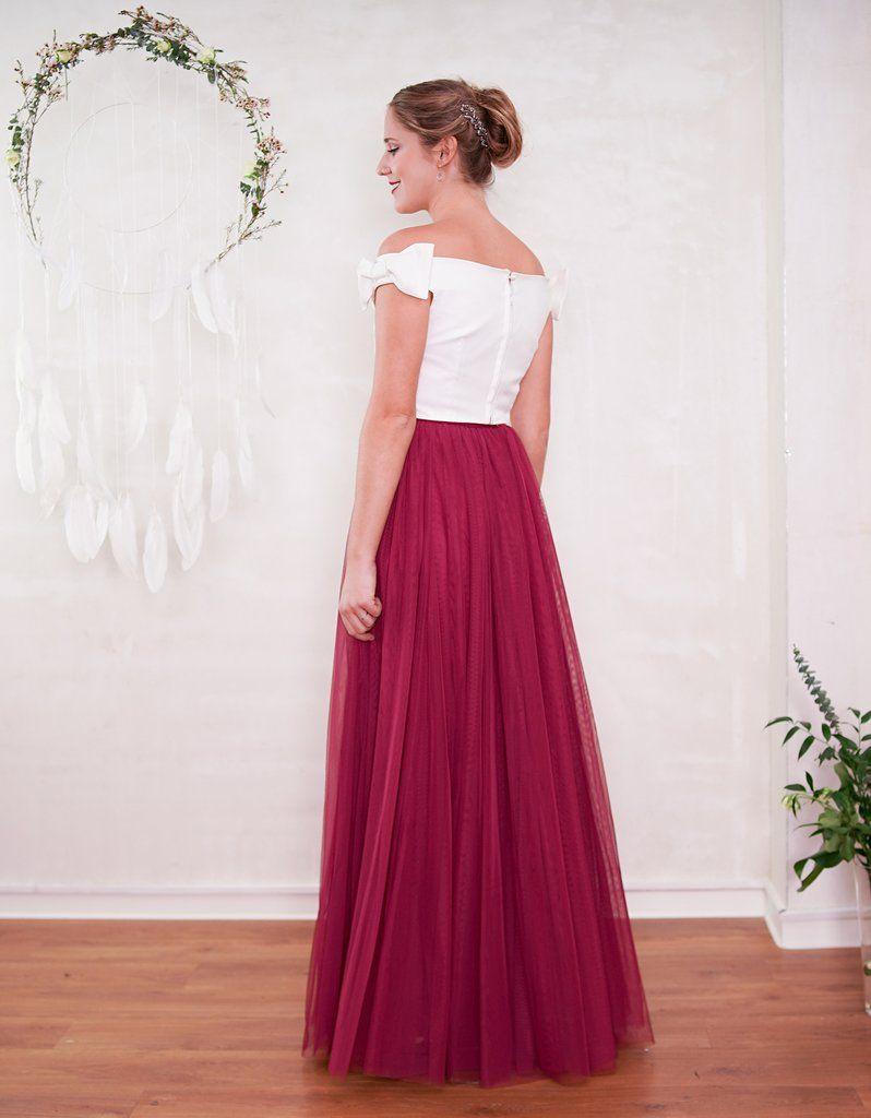 Langer Tüllrock - Hochzeitsrock - Braut Standesamt Dieser lange
