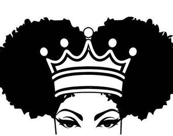 Black Women Nubian Princess Queen Afro Hair Beautiful African Etsy African Tattoo Black Art Painting Queen Drawing