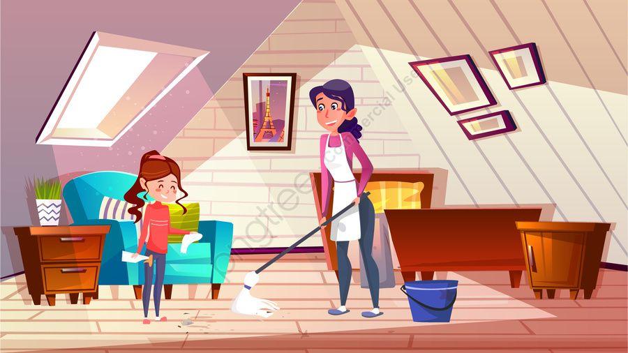 การ ต นทำความสะอาดทำความสะอาดช ว ตครอบคร ว ภาพประกอบ ครอบคร ว ครอบคร ว ภาพต วอย างบน Pngtree ไม ม ค าล ขส ทธ ภาพประกอบ การออกแบบปก การ ต น