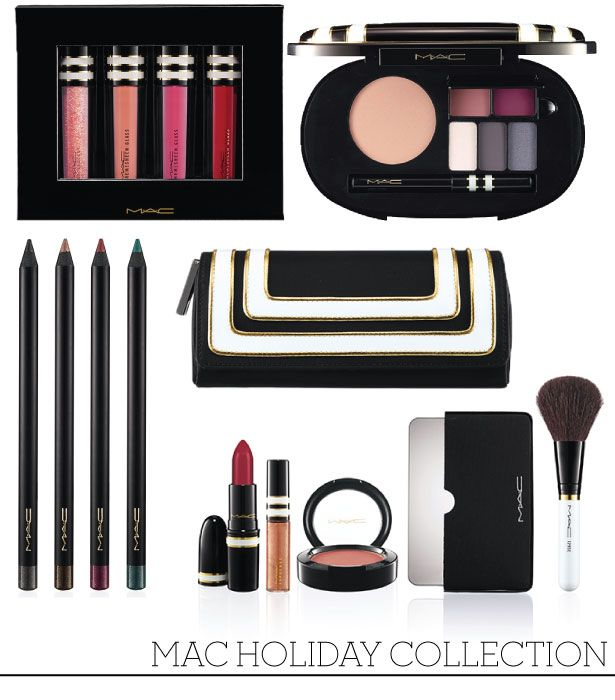 Sneak Peak: The MAC Holiday Collections Nocturnals Lip Gloss in Nude, $38.50 CAD Divine Night Kohl Power Eye Pencil, $21 CAD Stroke of Midnight Face Palate Cool, $59.50 CAD Stroke of Midnight Lip and Cheek Bag, $71.50 CAD