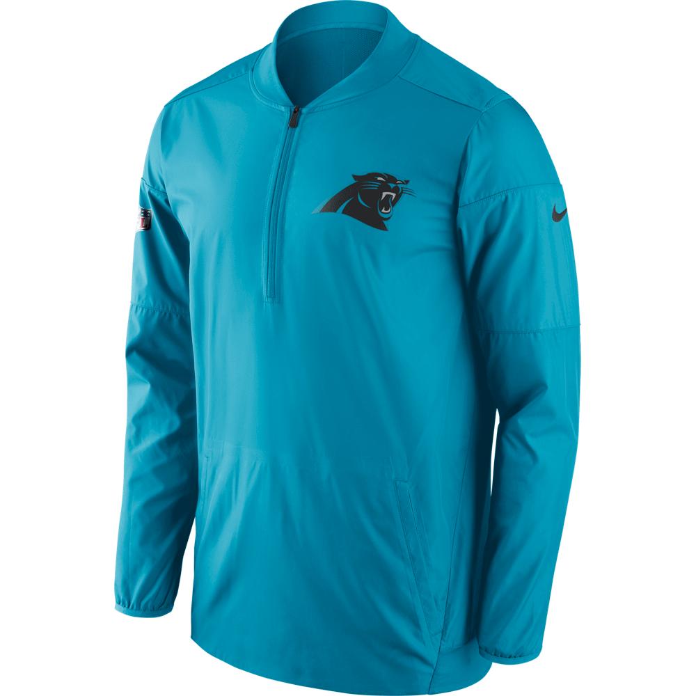 Carolina Panthers Men s Nike Blue Lockdown Half Zip Jacket ... d9b140173