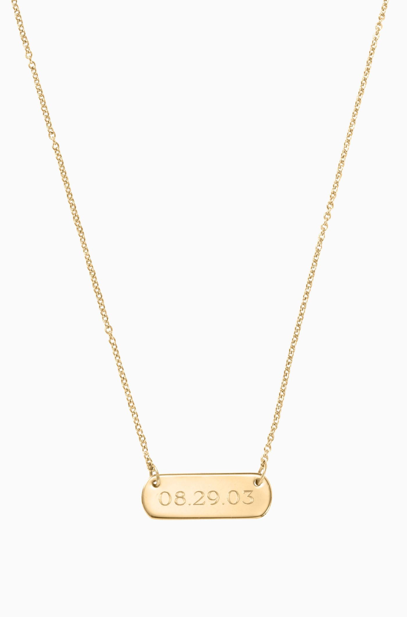 7e14f26211840 Signature Engravable Bar Necklace - Gold | Wish List | Gold bar ...