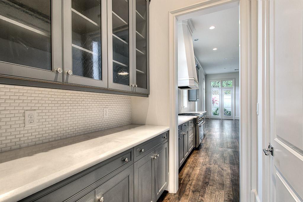 Butlers Pantry Mini Brick Tile Backsplash Cabinet Color Floor