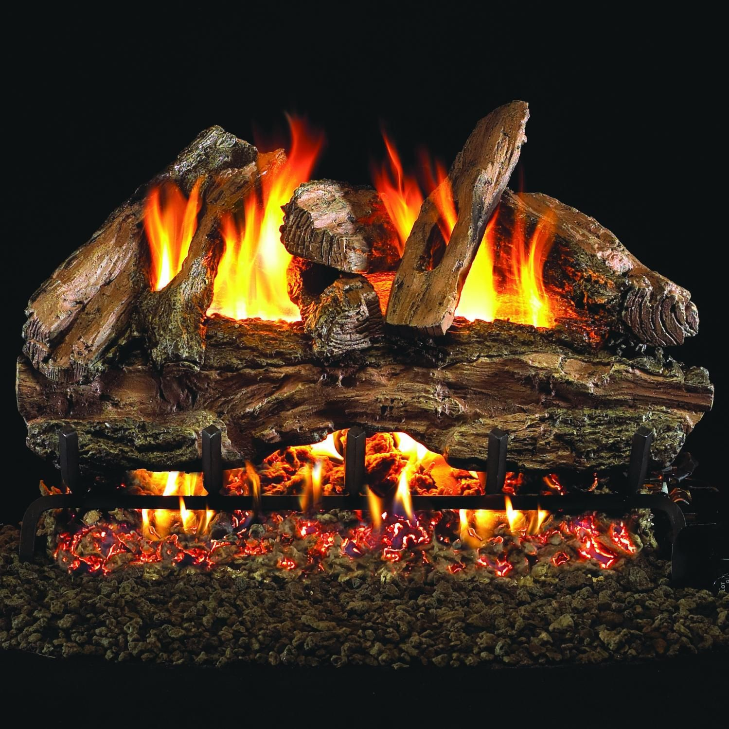 Peterson Real Fyre 30Inch Red Oak Gas Log Set With Vented