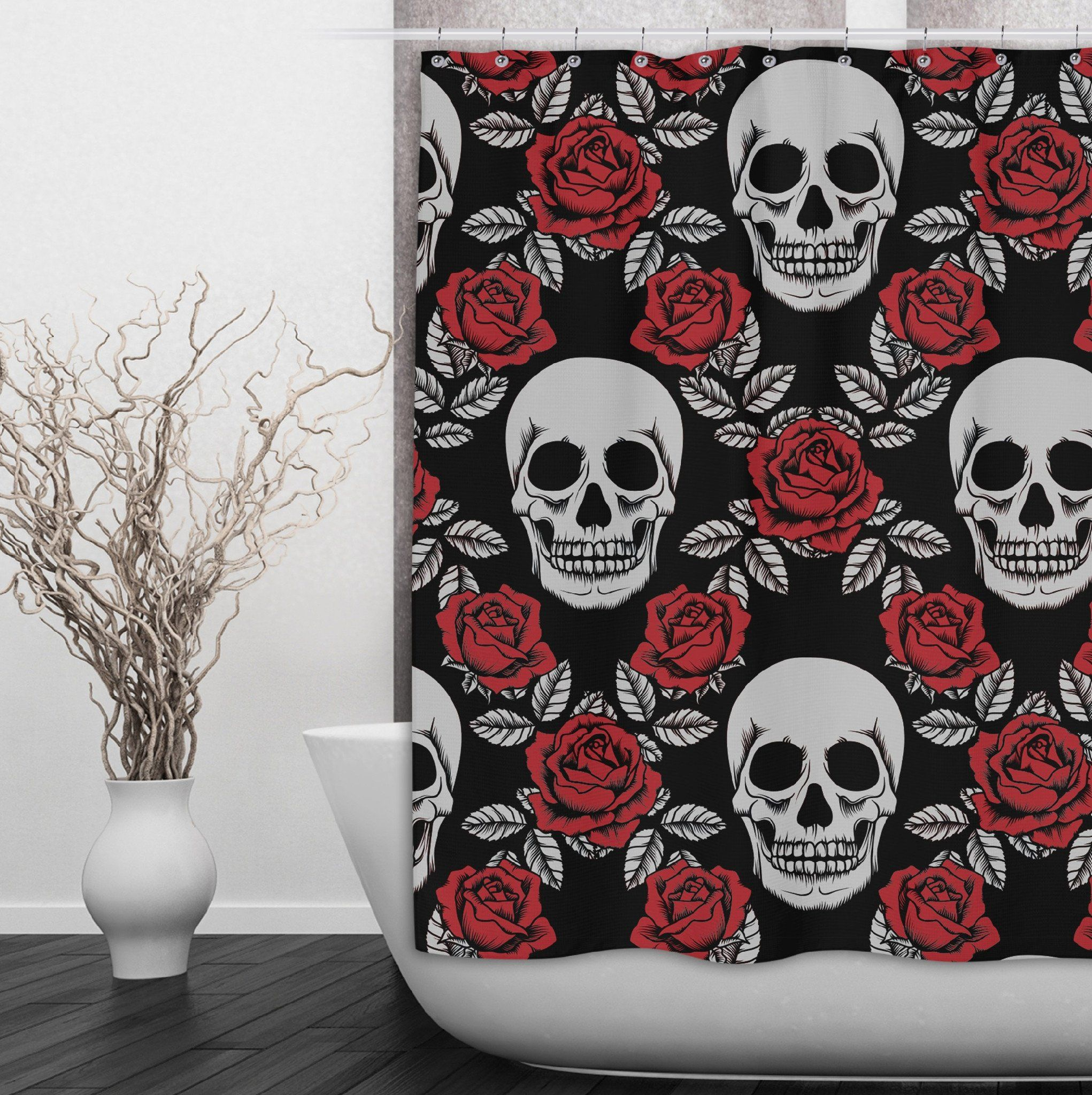 Skull Shower Curtains And Bath Mats