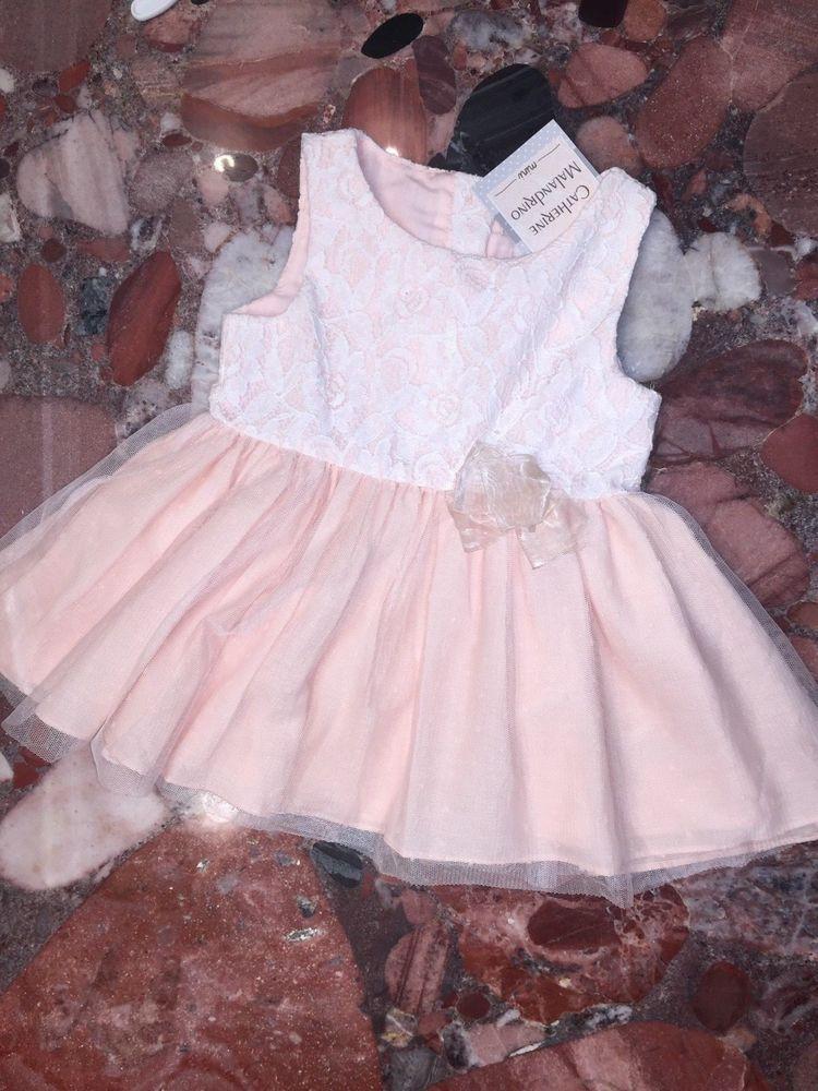 10274d734 NWT Catherine Malandrino Mini Pink Sleeveless Baby Dress Girl's 18M 18  Months #CatherineMalandrinoMini #Tutu #CasualParty