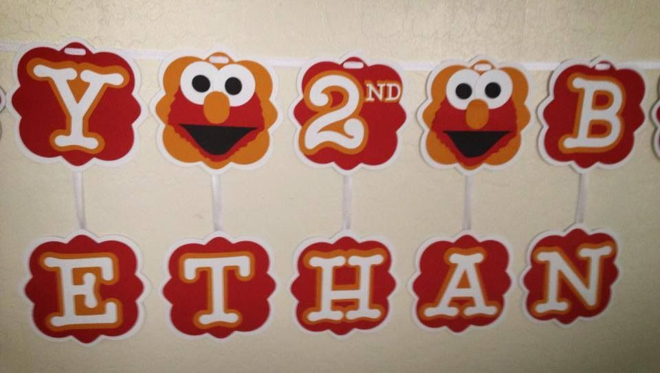 Elmo birthday banner  1st banner  Find Nessa's Banners & Creations on Facebook to see other custom creations