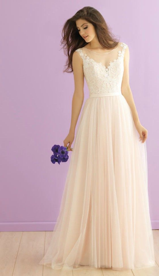 Feminine a line lace wedding dress for older brides over for Wedding dresses for 60 year olds