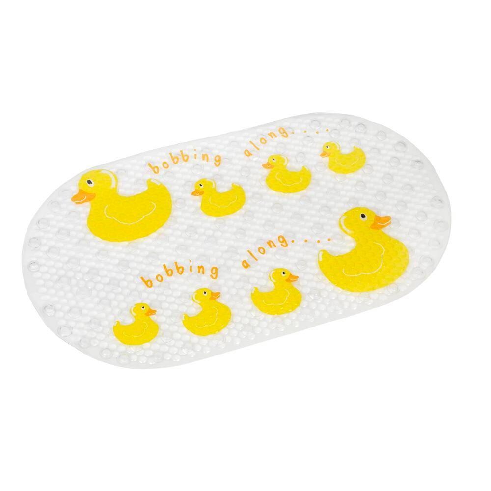 Croydex Bobbing Along Bath Mat In Clear Clear Yellow Bath Mat