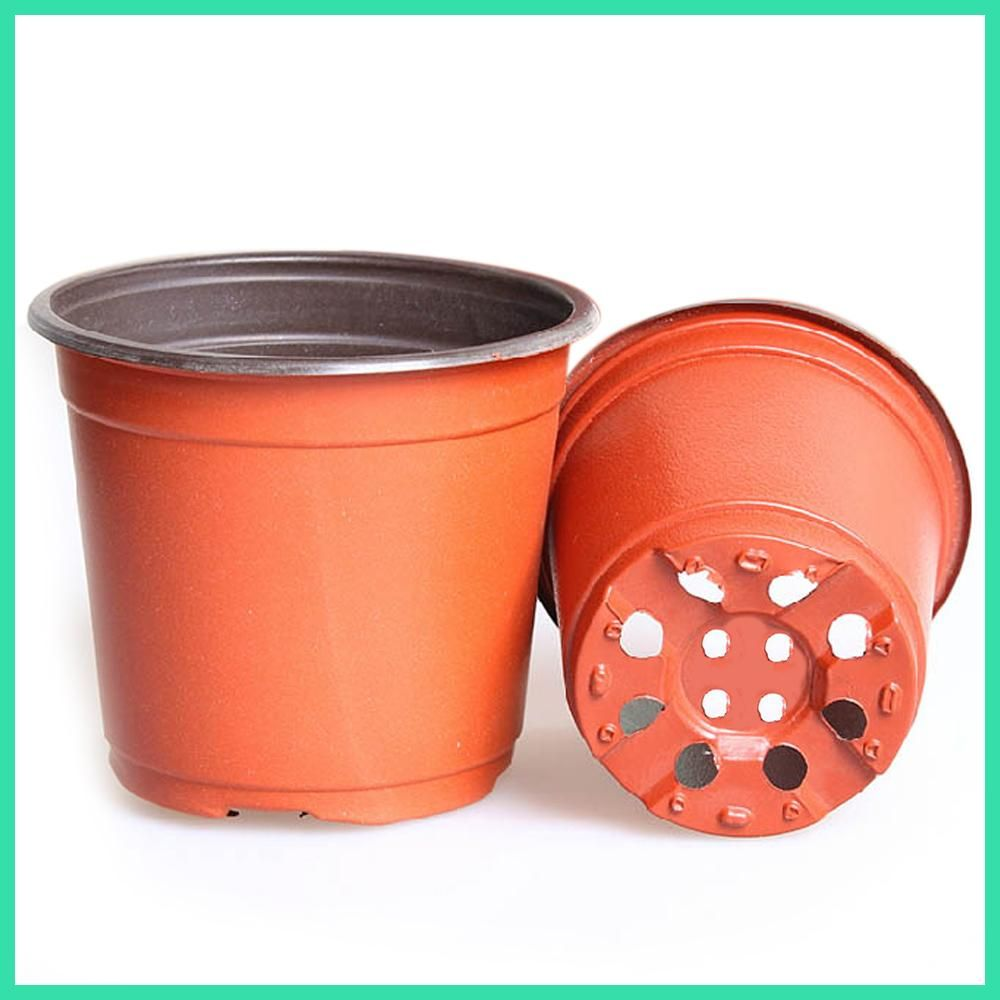 Behokic 100pcs large size 150110132mm plastic round flower plant cheap plastic round buy quality pot planter directly from china flower pot suppliers behokic large plastic round bi color flower pot planter holder for workwithnaturefo