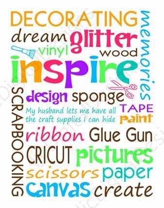 Printable craft room digital subway art word by ljcdigitaldesigns printable craft room digital subway art word by ljcdigitaldesigns 400 pronofoot35fo Image collections
