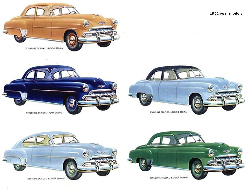 1952 Year Models Chevrolet Chevrolet Automobile Advertising
