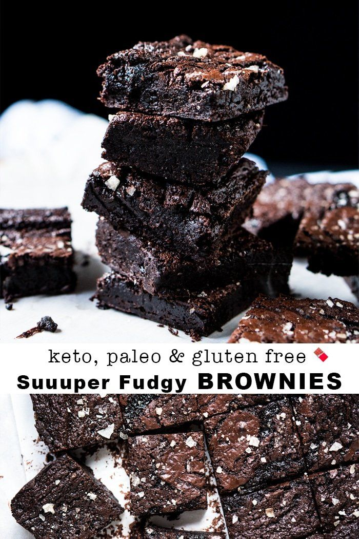 1g Net Carb Suuuper Fudgy Gluten Free Paleo Keto Brownies