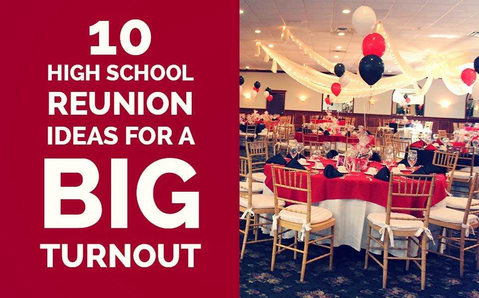 here are a collection of ideal high school reunion planning tips and class reunion ideas from