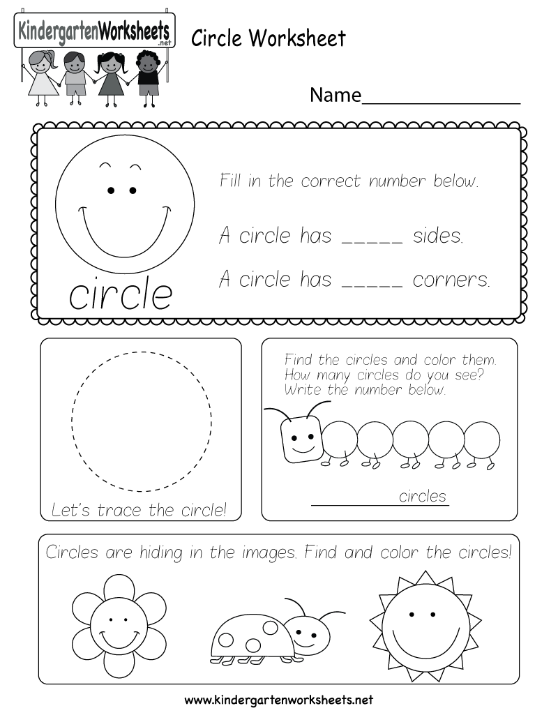 Kids can count, identify, and trace circles with several fun ...