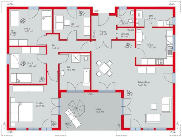 bungalow 177qm bungalows pinterest grundrisse hausbau und grundriss bungalow. Black Bedroom Furniture Sets. Home Design Ideas