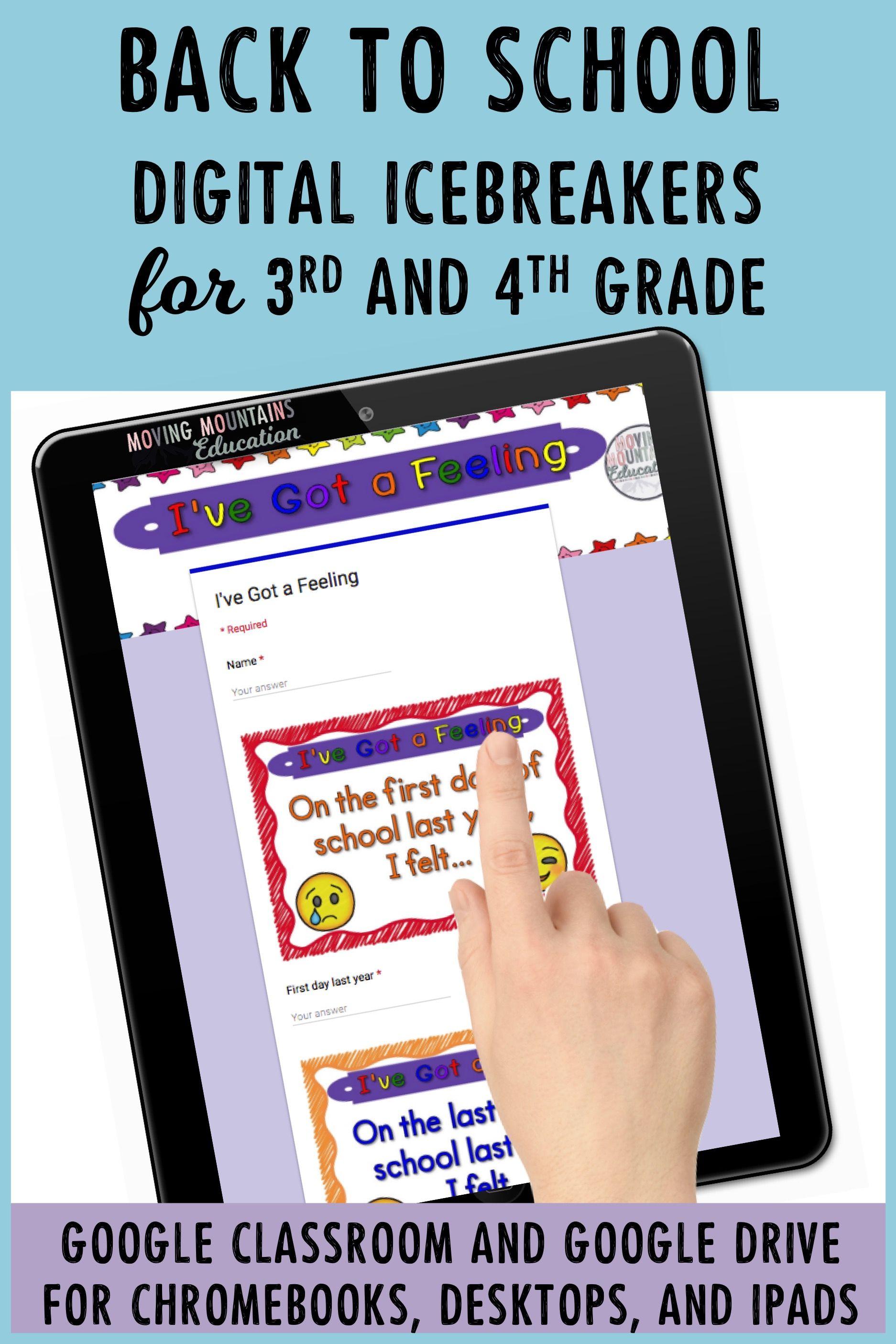 Google Classroom™ Beginning of the Year Activities First