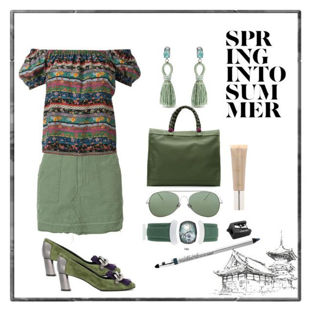 """spring to summer¶"" by racheal-taylor ❤ liked on Polyvore featuring Adaptation, Philosophy di Lorenzo Serafini, Casadei, Oscar de la Renta, Xaa, Acne Studios, Proff, Trish McEvoy and Stila"