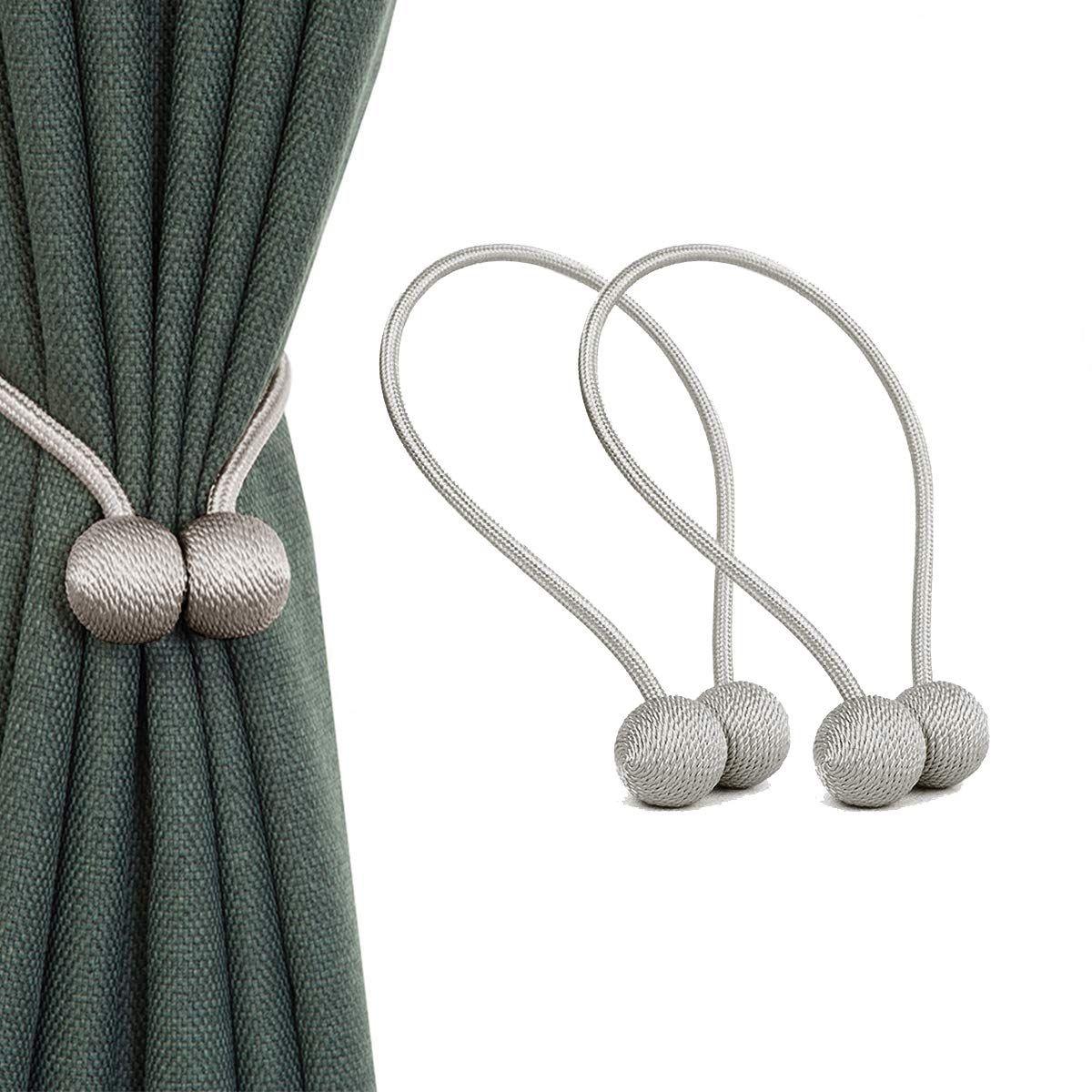 Baeima Magnetic Curtain Tiebacks Convenient Drape Tie Backs