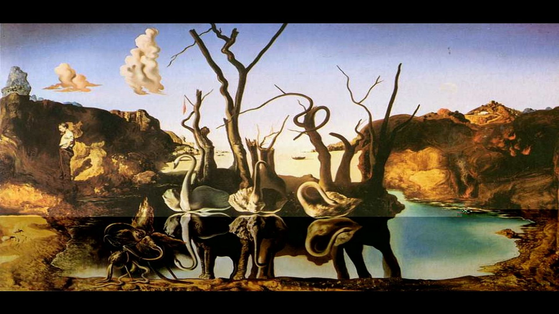Artwork Salvador Dali Dal Wallpaper Swans Reflecting Elephants .dali