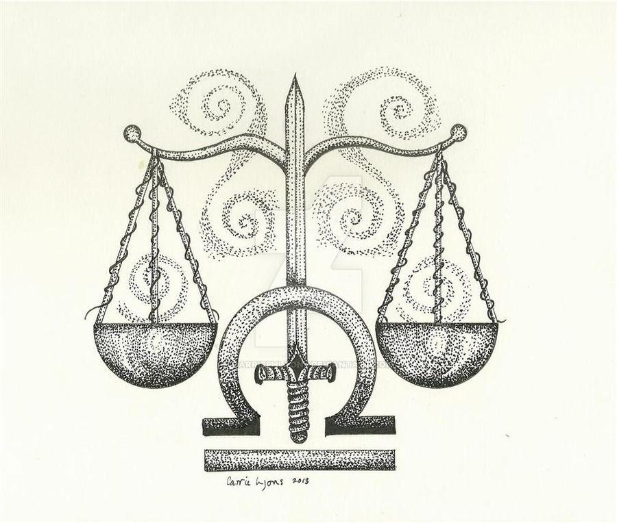 Весы знак зодиака картинки тату
