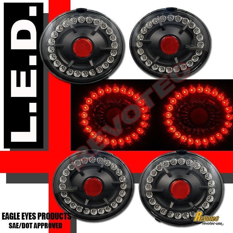 20052012 Chevy Corvette Z06 Black LED Tail Lights 4pcs