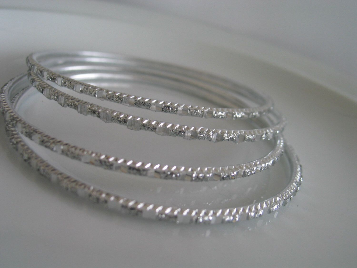 Silver tone bangles - silver tone bracelets - bangle supplies - bracelet supplies - bangles for jewelry - bangles for wire wrapping - indian by LeeliaDesigns on Etsy https://www.etsy.com/listing/178176761/silver-tone-bangles-silver-tone