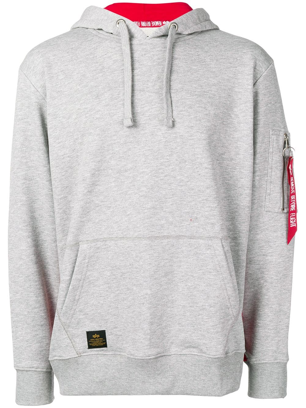 787c305e7 ALPHA INDUSTRIES ALPHA INDUSTRIES REMOVE BEFORE FLIGHT HOODIE - GREY.  #alphaindustries #cloth
