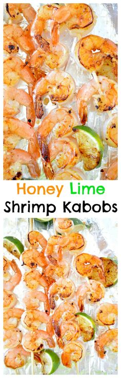 Grilled Honey Lime Shrimp Kabobs - sweet and tangy marinated shrimp grilled to perfection!