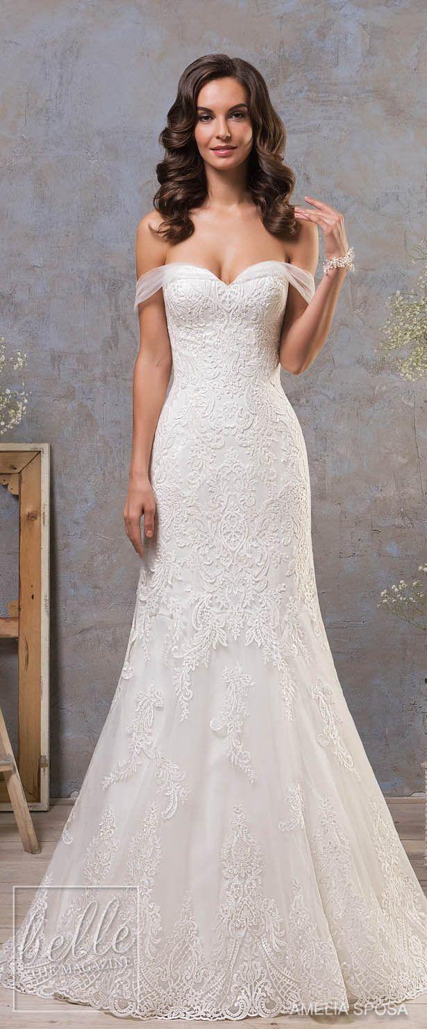 Lace dress for wedding  Amelia Sposa Fall  Wedding Dresses laceweddingdresses